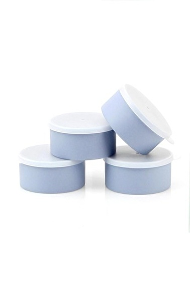 Arma House Koyu Mavi Rengi 4'Lü Plastik Yemek Saklama Kutusu Mavi